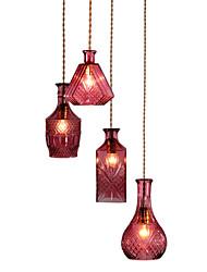 Недорогие -4-Light Подвесные лампы Торшер Металл Стекло Мини 110-120Вольт / 220-240Вольт / E26 / E27
