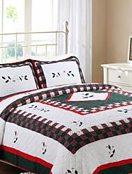 Недорогие -удобный - 1 одеяло / 2шт Подушки (только 1шт подушка для Одноместные или двухместные) Зима Хлопок Геометрический принт