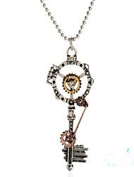 رخيصةأون -نسائي لون القهوة فينتاج قلائد الحلي - مفاتيح Steampunk محبوب البرونز القديم 50 cm قلادة مجوهرات 1PC من أجل هدية, مناسب للبس اليومي