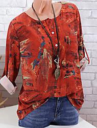 billige -Dame - Geometrisk Basale T-shirt