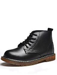 Недорогие -Муж. Комфортная обувь Кожа Наступила зима На каждый день Ботинки Черный