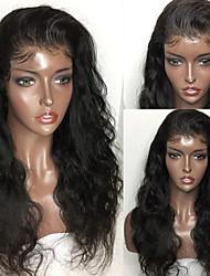 voordelige -Onbehandeld haar Mensen Remy Haar Kanten Voorkant Pruik Met paardenstaart stijl Peruaans haar BodyGolf Pruik 150% Haardichtheid met babyhaar Natuurlijke haarlijn Voor donkere huidskleur 100% Maagd