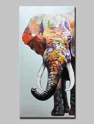 abordables -Peinture à l'huile Hang-peint Peint à la main - Abstrait / Pop Art Moderne Inclure cadre intérieur / Toile tendue