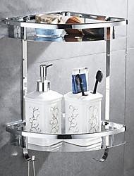 Недорогие -Полка для ванной Многослойный Современный Нержавеющая сталь 1шт На стену