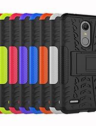 Недорогие -Кейс для Назначение LG LG V30 / LG V30+ / LG StyLus 3 Защита от удара / со стендом Кейс на заднюю панель Плитка / броня Твердый ПК / LG G6