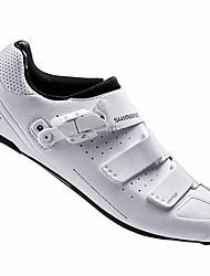 Недорогие -Взрослые Обувь для шоссейного велосипеда Нейлон, стекловолокно, воздушное отверстие,противоскользящие протекторы Дышащий Амортизация Вентиляция Велосипедный спорт / Велоспорт Для велоспорта Белый