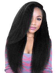 Недорогие -Не подвергавшиеся окрашиванию Бесклеевая сплошная кружевная основа Бесклеевая кружевная лента Полностью ленточные Парик Бразильские волосы Естественные прямые Парик Свободная часть 130% 150