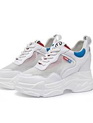 Недорогие -Жен. Сетка Лето Спортивная обувь Скрытая пятка Белый и фиолетовый / Белый / Желтый