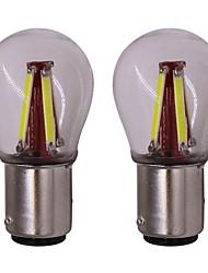 Недорогие -2pcs BA15S (1156) Автомобиль Лампы 4 W COB 4 Светодиодная лампа Лампа поворотного сигнала Назначение Универсальный Универсальный Универсальный