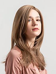 Недорогие -Парики из искусственных волос Жен. Естественный прямой Светло-коричневый Боковая часть Искусственные волосы 18 дюймовый Новое поступление / Природные волосы Светло-коричневый Парик Средняя длина