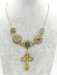رخيصةأون -نسائي فينتاج قلائد الحلي - مسننة ذهبي 61 cm قلادة مجوهرات 1PC / حزمة, 1PC من أجل حفل / مساء, شارع