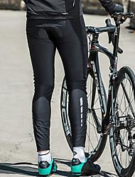 Недорогие -SANTIC Муж. Велолосины Велоспорт Велоспорт Колготки / Нижняя часть С защитой от ветра, Сохраняет тепло Однотонный Эластан Зима Черный Горные велосипеды Свободное облегание Одежда для велоспорта