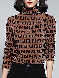 Недорогие -женская футболка - цветная водолазка