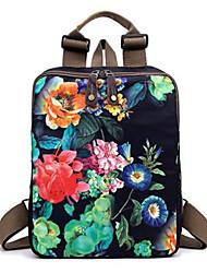 """Недорогие -Жен. Мешки Ткань """"Оксфорд"""" рюкзак Узоры / принт Синий / Розовый / Цвет радуги"""