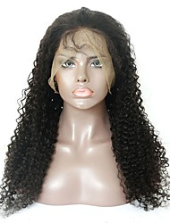 cheap -Virgin Human Hair Remy Human Hair Full Lace Wig Layered Haircut Middle Part Side Part style Brazilian Hair Deep Curly Wig 130% Density Soft Natural Natural Hairline African American Wig 100% Virgin