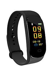 baratos -JSBP YY-M5 Pulseira inteligente Android iOS Bluetooth Impermeável Monitor de Batimento Cardíaco Medição de Pressão Sanguínea Tela de toque Calorias Queimadas Podômetro Aviso de Chamada Monitor de