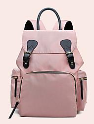 Недорогие -холст Сплошной цвет Сумка для мамы Молнии Сплошной цвет Черный / Розовый