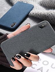 Недорогие -Кейс для Назначение Apple iPhone XR / iPhone XS Max Защита от удара / Ультратонкий Кейс на заднюю панель Однотонный Мягкий Силикон для iPhone XS / iPhone XR / iPhone XS Max