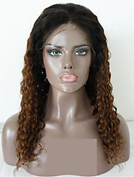 cheap -Virgin Human Hair Remy Human Hair Lace Front Wig Layered Haircut Middle Part Side Part style Brazilian Hair Deep Curly Natural Straight Wig 130% Density Soft Natural Natural Hairline African American