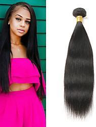 Недорогие -1 комплект Бразильские волосы Прямой 8A Натуральные волосы Накладки из натуральных волос 10-26 дюймовый Ткет человеческих волос Мягкость Лучшее качество Новое поступление Расширения человеческих волос