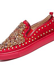 Недорогие -Муж. Комфортная обувь Полиуретан Осень На каждый день Мокасины и Свитер Дышащий Черный / Красный