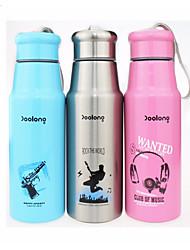 Недорогие -Drinkware Бутылки для воды / Бутылка спорта / Вакуумный Кубок Сталь + Пластик / Нержавеющая сталь / Полипропилен + ABS Компактность / сохраняющий тепло Для занятий спортом / Школьная одежда
