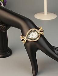 Недорогие -FEIS Жен. Часы-браслет Кварцевый Золотистый Секундомер Аналого-цифровые Дамы Мода - Кофейный Синий Темно-синий