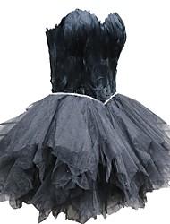 Недорогие -Черный лебедь Маленькое черное платье Элегантный стиль Платья Маскарад Жен. Костюм Черный Винтаж Косплей Встреча выпускников Без рукавов
