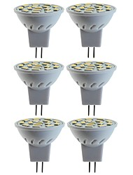 abordables -SENCART 6pcs 5W / 80W 260lm MR11 Spot LED MR11 15 Perles LED SMD 5060 Décorative Blanc Chaud / Blanc Froid 12V