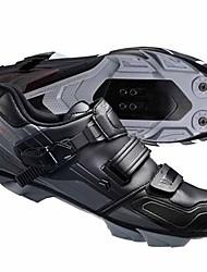 Недорогие -Обувь для горного велосипеда Нейлон, стекловолокно, воздушное отверстие,противоскользящие протекторы Водонепроницаемость Дышащий Амортизация Велосипедный спорт / Велоспорт Для велоспорта Черный