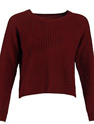 povoljno -džemper s dugim rukavima - čvrste boje