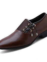 cheap -Men's Comfort Shoes PU(Polyurethane) Spring Business Oxfords Breathable Black / Brown