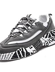 hesapli -Erkek Ayakkabı PU Kış Sportif Atletik Ayakkabılar Koşu Atletik için Siyah / Gri / Siyah / Kırmızı / Zıt Renkli