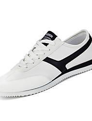 hesapli -Erkek Ayakkabı PU Kış Günlük Spor Ayakkabısı Günlük için Beyaz / Siyah / Siyah ve Altın / Zıt Renkli