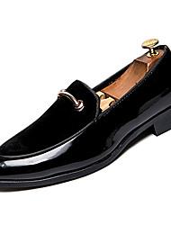 Недорогие -Муж. Комфортная обувь Полиуретан Зима На каждый день Мокасины и Свитер Нескользкий Черный / Синий
