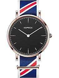 Недорогие -Kopeck Муж. Наручные часы электронные часы Японский Японский кварц Нейлон Черный / Серый / Небесно-голубой 30 m Защита от влаги Новый дизайн Аналоговый На каждый день Мода - Черный Серый Синий