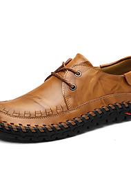 hesapli -Erkek Ayakkabı Deri İlkbahar & Kış Günlük / İngiliz Oxford Modeli Günlük / Ofis ve Kariyer için Siyah / Kahverengi