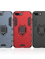 Недорогие -Кейс для Назначение Apple iPhone 7 Plus Защита от удара / Кольца-держатели Кейс на заднюю панель Однотонный / броня Твердый ПК