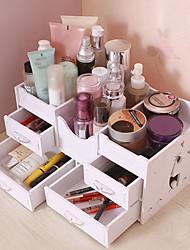 billige -Opbevaring Organisation Kosmetisk Makeup Organizer PVC skum bord Rektangelform Kreativ / Flerlags / Støvsikker