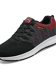 זול -בגדי ריקוד גברים נעלי נוחות Tissage וולנט אביב יום יומי נעלי אתלטיקה ריצה נושם אפור / שחור אדום / כתום ושחור