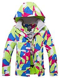 Per donna Giacca da sci Antivento Anti-pioggia Caldo Sport invernali  Poliestere Nylon Giacca invernale Top Abbigliamento da neve   Inverno 77fb5d4b516