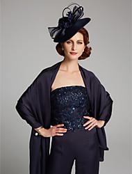 ราคาถูก -เสื้อไม่มีแขน ซาตินชิฟฟอน งานแต่งงาน / งานปาร์ตี้ / งานราตรี Women's Wrap กับ ไม่มีลาย ผ้าคลุมไหล่