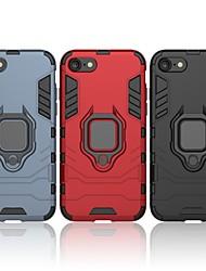 Недорогие -Кейс для Назначение Apple iPhone 8 Защита от удара / Кольца-держатели Кейс на заднюю панель Однотонный / броня Твердый ПК
