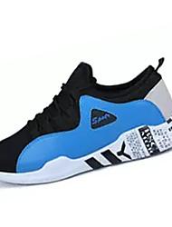 hesapli -Erkek Ayakkabı Tissage Volant Bahar Günlük Atletik Ayakkabılar Yürüyüş Günlük için Siyah ve Altın / Siyah ve Beyaz / Siyah / Mavi
