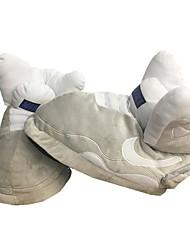 Недорогие -Муж. Комфортная обувь Хлопок Зима На каждый день Тапочки и Шлепанцы Сохраняет тепло Серый / Красный / Черно-белый