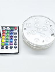 Недорогие -1шт 5 W Подводное освещение Водонепроницаемый / Дистанционно управляемый / Диммируемая RGB 4.5 V Подходит для ваз и аквариумов 12 Светодиодные бусины