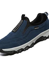 hesapli -Erkek Ayakkabı Süet / PU Kış Günlük Mokasen & Bağcıksız Ayakkabılar Günlük için Siyah / Koyu Mavi / Gri