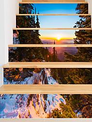 abordables -Autocollants muraux décoratifs - Autocollants muraux 3D Paysage / A fleurs / Botanique Salle de séjour / Intérieur