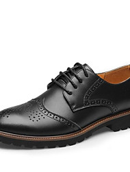 cheap -Men's Bullock Shoes Leather Fall & Winter Oxfords Black / Brown