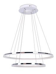 billiga -Cirkelrunda Hängande lampor Glödande Rektangulär Metall Akryl LED 110-120V / 220-240V Varmt vit / Vit / Dimbar med fjärrkontroll LED-ljuskälla ingår / Integrerad LED / FCC